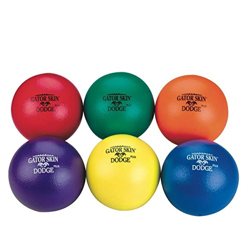 S&S Worldwide UA904-6C Gator Skin Dodge Plus Middle School Dodgeball, Grade:1 to 5, (Pack of 6) by S&S Worldwide