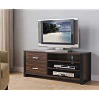 161482 Smart Home Dark Walnut & Black Edition TV Stands (47 Inch, Dark Walnut)