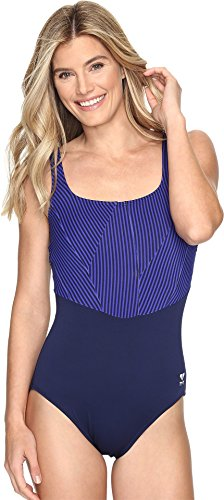 TYR Women's Monroe Strip Aqua Control Fit Swimsuit, 20, 419 - Proof Swimwear Chlorine