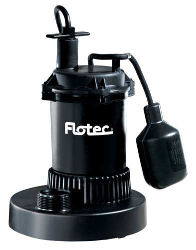 Sump Pump Gph - Flotec FP0S3200A 1/2 HP 3,200 GPH Plastic Sump Pump