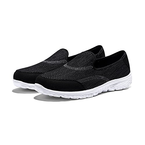 Casual Sneakers Foam Black Loafers Walking Womens On Lightweight Memory Fashion HQUEC Slip Shoes SqwvggX