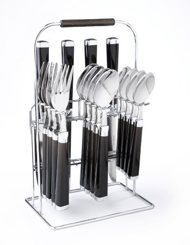 Cambridge 'Temptation' Black 16-piece Flatware Set