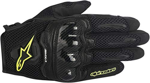 Alpinestars SMX-1 Air Women's Street Motorcycle Gloves - Black/Yellow/Large by Alpinestars