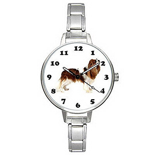 Spaniel Italian Charm Watch - BMTC747 Cavalier King Charles Rubby Spaniel Italian Charm Mens Ladies Wrist Watch