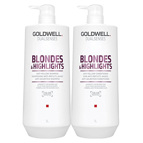 Goldwell Dual Senses Blondes and Highlights Conditioner and Shampoo Liter ()
