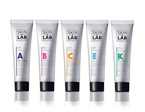 [PEAU & LAB] Set de vitamine crème 30ml 5pcs (A: élasticité, B: améliorer la peau problèmes, C: blanchiment, E: hydrater, K: rougeur)