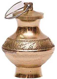 Grace Collections Pure Brass Ganga Jal Lutia for Keeping Ganga Jal (35 Gms, Dia. 4.5, Depth 5 cms)