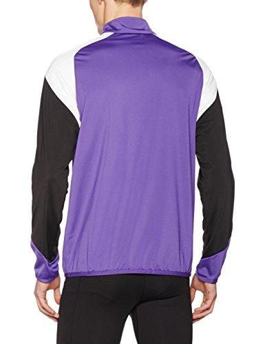 Puma uomo Giacca Prism ebano puma Knit Purple per Jacket 4 Poly Bianco Esito dqKq1pA