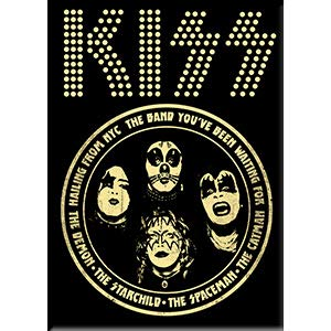 C&D Visionary KISS, Hailing from NYC - Licensed Original Artwork, Fridge Magnet, 2.5