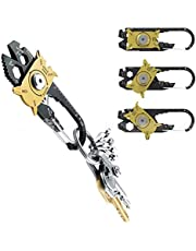 Rubicon Hub Multi Tool, Compact 20 In 1, MultiTool Key-Ring, Multi Tool Survival Key Ring, Multi Screwdrivers Set, Bicycle Wrench set, Light Weight And Durable, Pocket Tool.