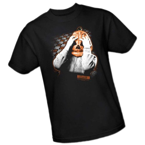 Universal Studios Halloween - Pumpkin Mask -- Halloween III Adult T-Shirt, XXX-Large