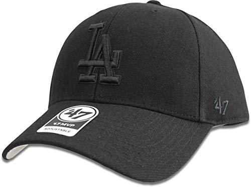 - Los Angeles Dodgers Hat MLB Authentic '47 (Forty Seven) Brand MVP Adjustable Black on Black Baseball Cap Adjustable Adult One Size Men & Women 85% Acrylic 15% Wool