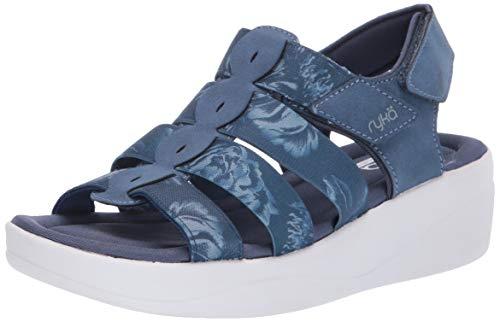 Ryka Women's Aloha Sandal, Navy, 7 M US