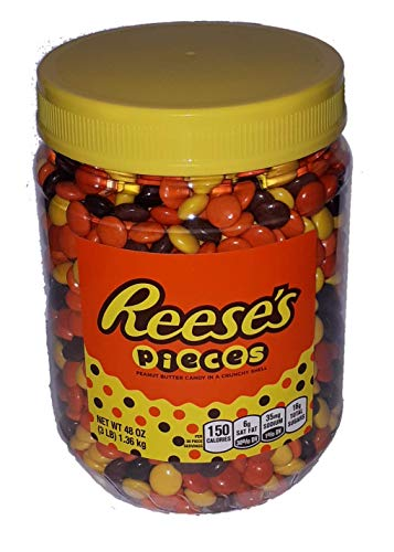 Reese's Pieces Peanut Butter Candy in A Crunchy Shell (48oz Jar)