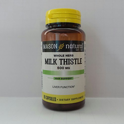 Mason natural milk thistle 500 mg premium herbal supplement capsules - 60 ea