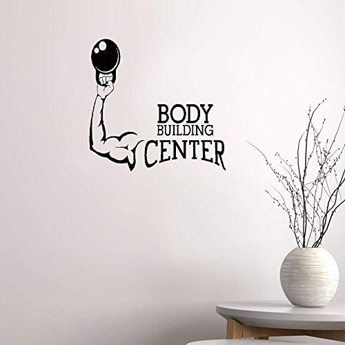 pukepa Removable Vinyl Decal Art Mural Home Decor Wall Stickers Bodybuilding Center Muscled Fitness Sports