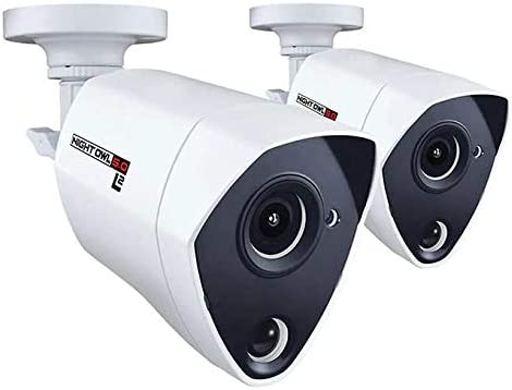 Night Owl Security 2 Pack Add-on Extreme HD 5MP Dual Sensor and L2 Color Boost Wired Infrared Camera White