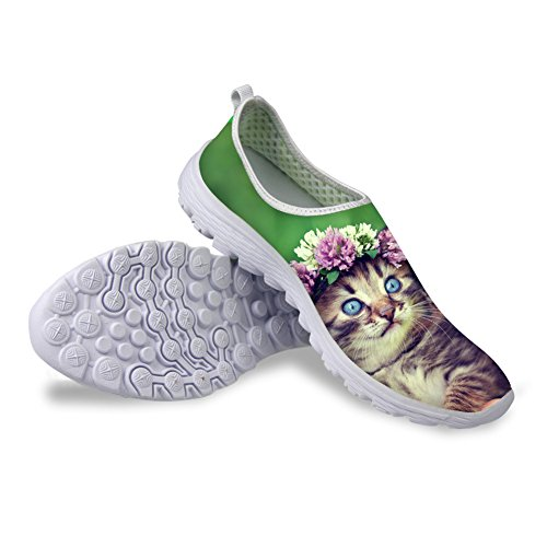 Bigcardesigns Lovely Kitty Female Running Shoes Sneakers Lightweight cat 3 6HwlFx7xI