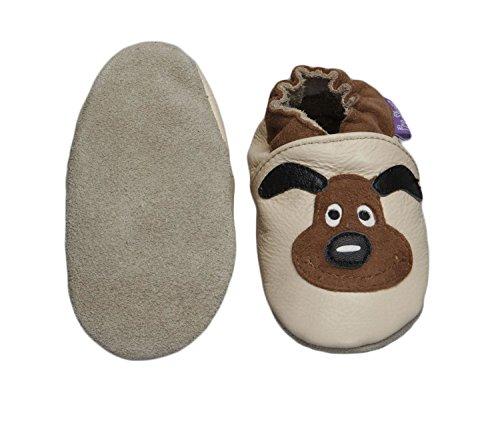 Zapatos Pre suaves zapatos de cuero del bebé de 0 - 6 meses (Puppy Love)