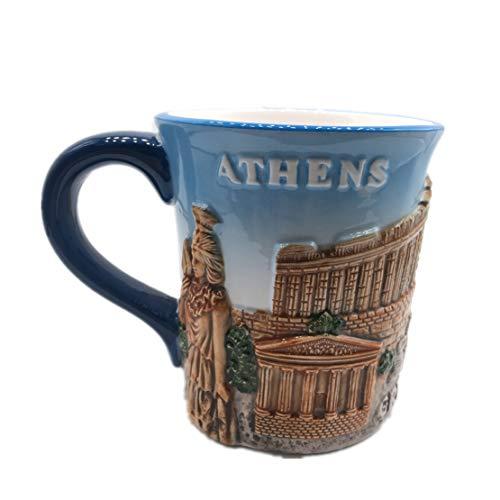 Weekinglo Acropolis The Parthenon Erechtheion Athens Greece 3D Emboss Handpainted Ceramics Coffee Mug Cup Handmade Craft Tourist Travel Souvenir Collection Gift 12 -
