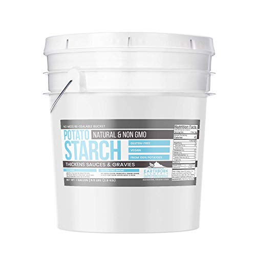 Potato Starch (1 gallon (6.5 lbs.)) by Earthborn Elements, Resealable bucket, Gluten-Free, NON-GMO, All-Natural, Thickener For Sauces, Soup, & Gravy, No Added Preservatives Or Artificial Ingredients