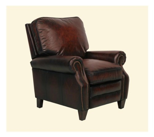 BarcaLounger Briarwood II POWER Recliner Chair - Stetson Bordeaux Leather