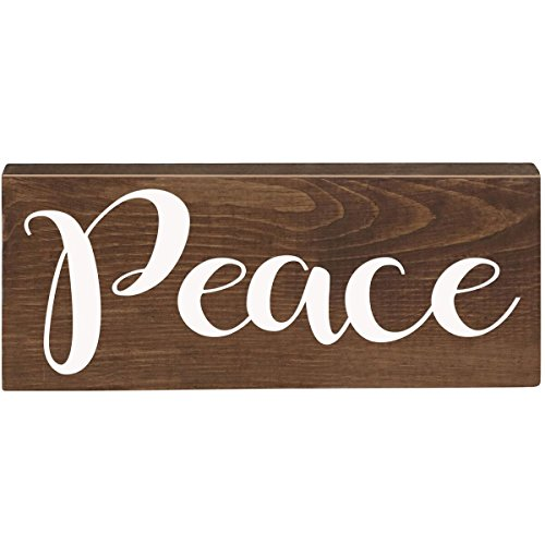 Peace Inspirational Pine Block Inspirational Quotes for Women and Men Gift ideas for Husband, Wife, Family, and Best Friends 2