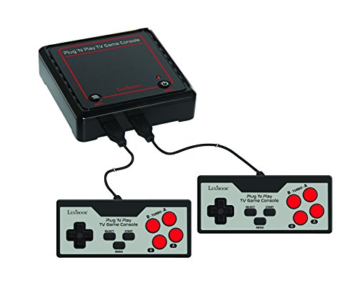 Lexibook Plug N'Play TV Game Console, 300 games, the greatest classics at home, rediscover the greatest classics of video games, 2 players - JG7800 (Game Tv Play)