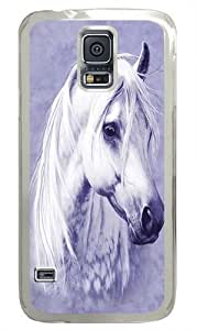 Samsung Galaxy S5 Case, Samsung Galaxy S5 Cases -Moon Shadow Horse PC Hard Plastic Case for Samsung S5/Samsung Galaxy S5 Transparent