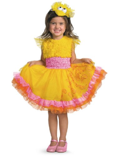 [Frilly Big Bird Costume - Small (4-6x)] (Sesame Street Costumes For Babies)