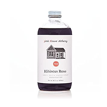 Amazoncom Pink House Alchemy Hibiscus Rose Simple Syrup 16 Oz
