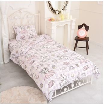 Disney Marie duvet cover, sheets, pillow case three-piece set single by Disney