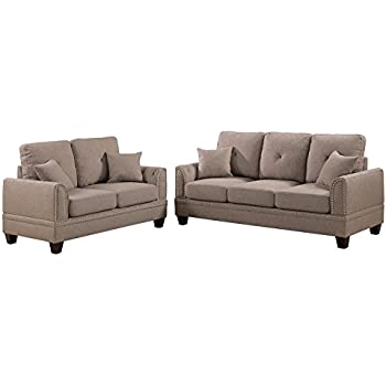 Amazon.com: Poundex F6501 PDEX-F6501 Sofas, Coffee: Kitchen ...