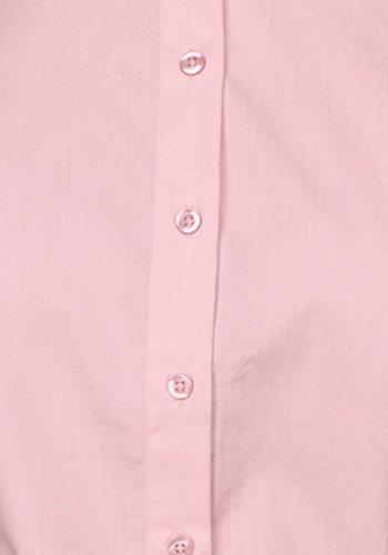 Pink Moda Lunga Con Colore Elegante Blusa Manica Ragazza Invernali Camicie Autunno Slim Fit Costume Bottoni Revers Puro Classica Ufficio Maglietta Women's Donna Top Camicette Business Camicia Z4xwzz