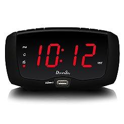 DreamSky Digital Alarm Clock Radio, FM R...