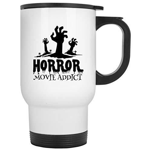 Horror Movie Addict Funny Halloween Scary Costume Festival Gift For Womens Travel Mug for $<!--$25.95-->