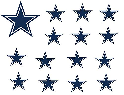 Dallas Cowboys Logo Stars NFL Edible Cupcake Toppers ABPID05580]()