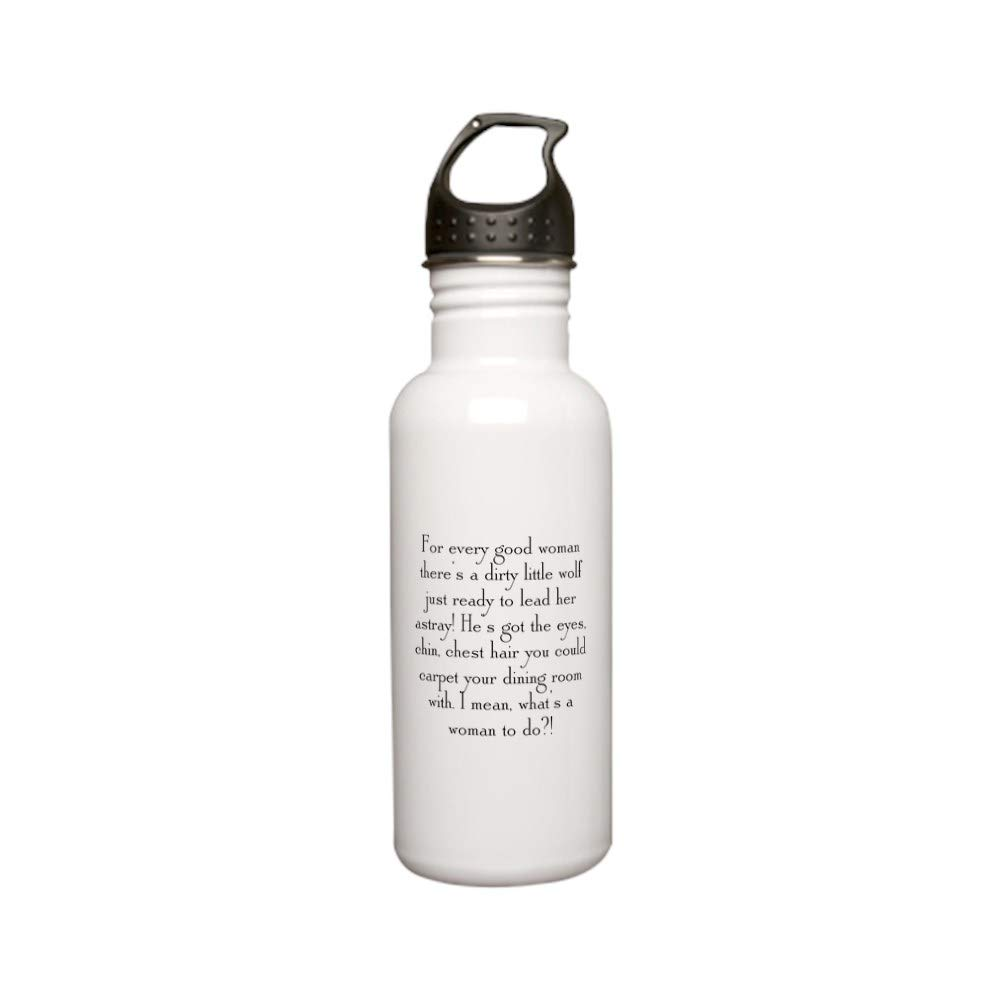 CafePress Dirty Little Wolf Stainless Water Bottle 0 Stainless Steel Water Bottle, 0.6L Sports Bottle