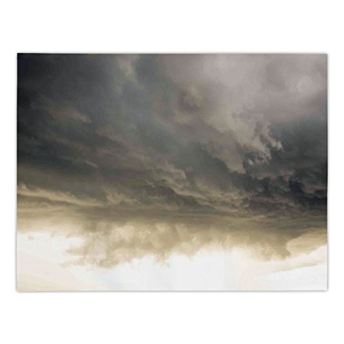 - Polyester Rectangular Tablecloth,Clouds,Heavy Storm Clouds in Dark Sky Hurricane Weather Cloudscape Mass of Liquid Droplets Image,Grey,Dining Room Kitchen Picnic Table Cloth Cover,for Outdoor Indoor