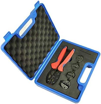 ケーブルカッター 圧着ペンチ 複合圧着工具セット 4つの交換可能なモジュール 圧着工具 電気技師用圧着ペンチキット 手動ケーブルカッター