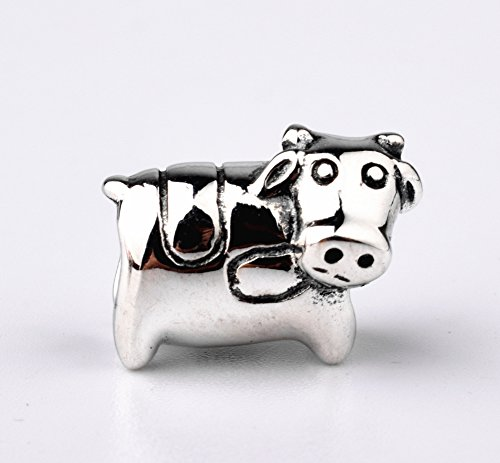 Cow Charm 925 Sterling Silver Diy Animal Charm Happy