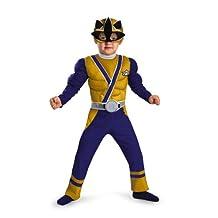 Power Rangers Gold Ranger Samurai Muscle Chest Costume Child Toddler Small 2T
