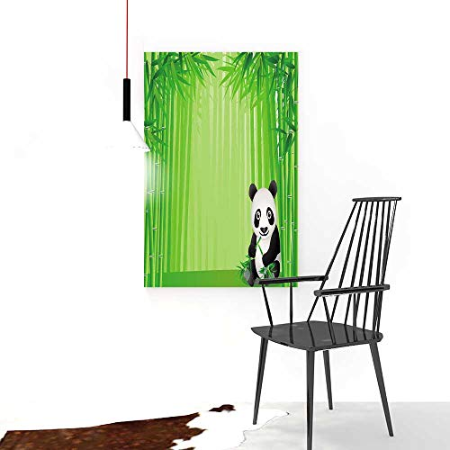 Price comparison product image Auraise-home Decorative Painting Frameless Treatments Animal Panda Climbing on a Tree Springtime OrientalAsian Jungle Wildlife for Wall Decor W20 x H40