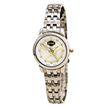 Bulova 78L114 Timepieces Women's Quartz Analog Watch with Silver White Dial and Two Tone Stainless Steel Bracelet