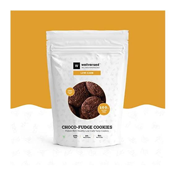 Ketofy - Low Carb Choco Fudge Cookies (200gm) | Not for Strict Keto Dieters | Gluten Free