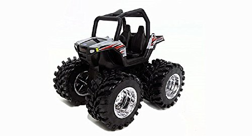 (Polaris Utility ATV - Monster Treads - Collect n Play - Silver)