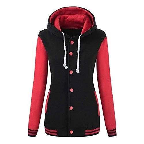 Rambling Women's Winter Varsity Baseball Hoodie Jacket Outerwear Bomber Coat Sport Sweatshirt