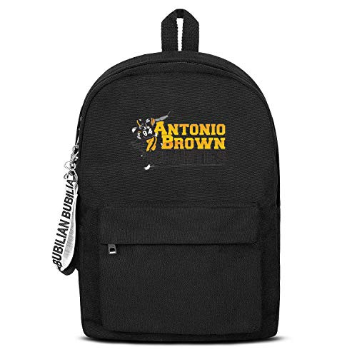 HTLYT Unisex Concise Waterproof Lightweight Canvas Backpack Antonio-Classic-Brown-Charities- Laptop Bag (10 Best Nfl Quarterbacks Of All Time)