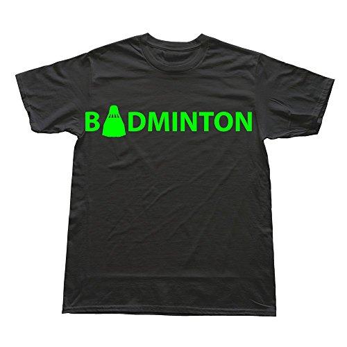 PTHZ Men's Badminton Cotton T Shirt Tee Black S
