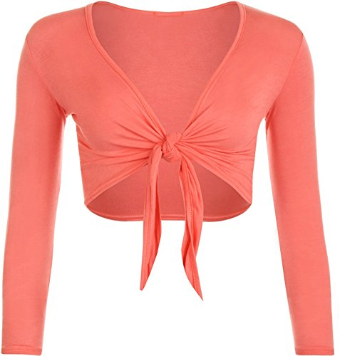 l M 46 Valley Lunghe Coprispalle 44 coral Fashion Donna Basic Maniche Pxw80